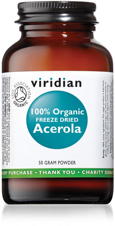 Viridian 100% Organic Freeze Dried Acerola