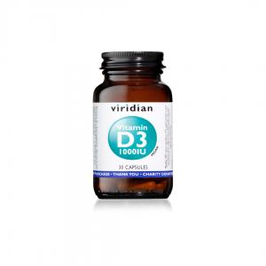 Viridian Vitamin D3 1000IU 30 caps