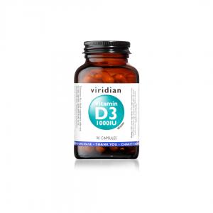 Viridian Vitamin D3 1000IU 90 caps