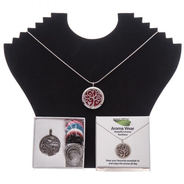 Amour Natural Heart Aroma Necklace