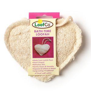 LoofCo Bathtime Heart Loofah